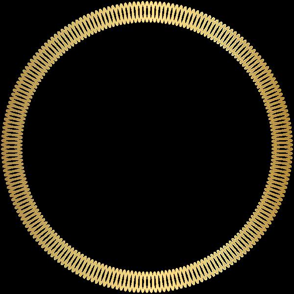Knight clipart border. Gold round deco transparent