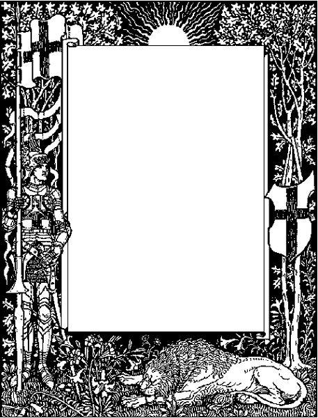 Designs clip art and. Knight clipart border