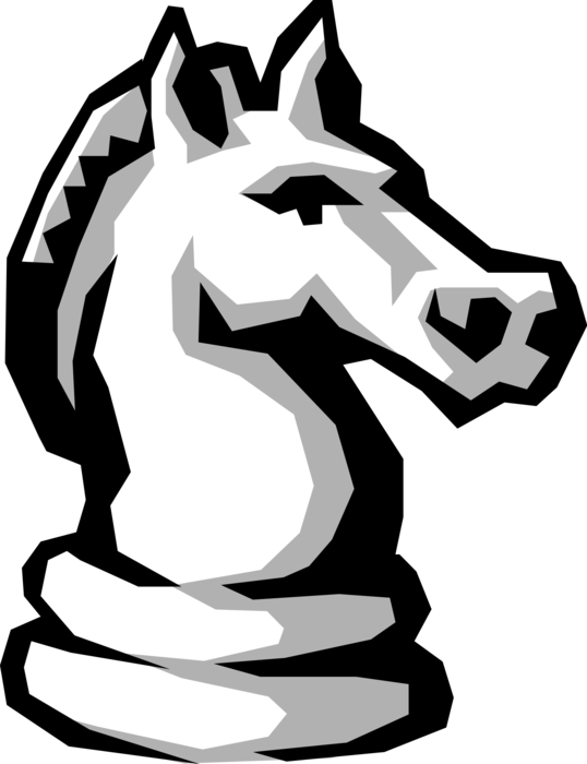 Chess piece vector image. Knight clipart cavalry