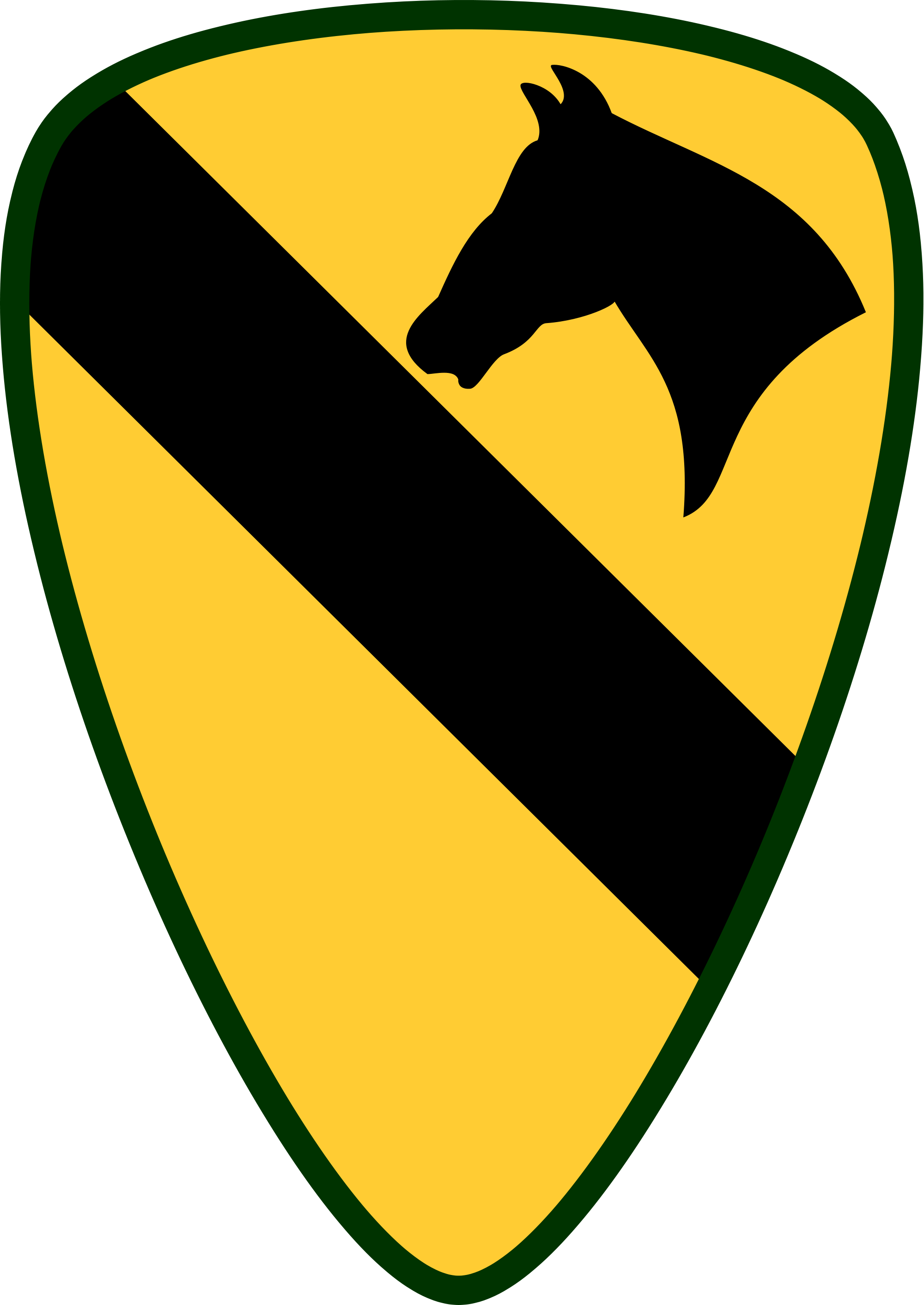 Soldiers clipart badge. Ist air cavalry division