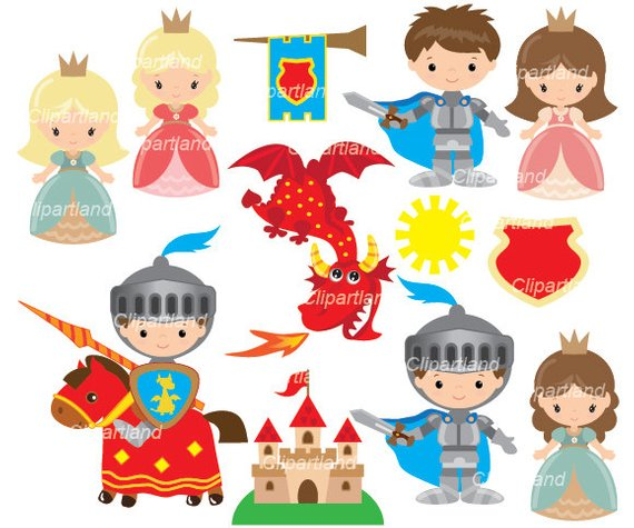 Knight clipart childrens. Instant download ck knights