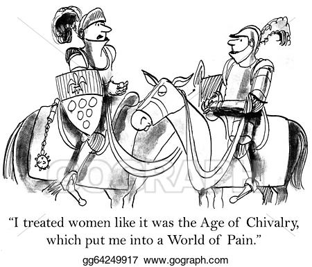 Knights clipart chivalry. Stock illustrations knight goes