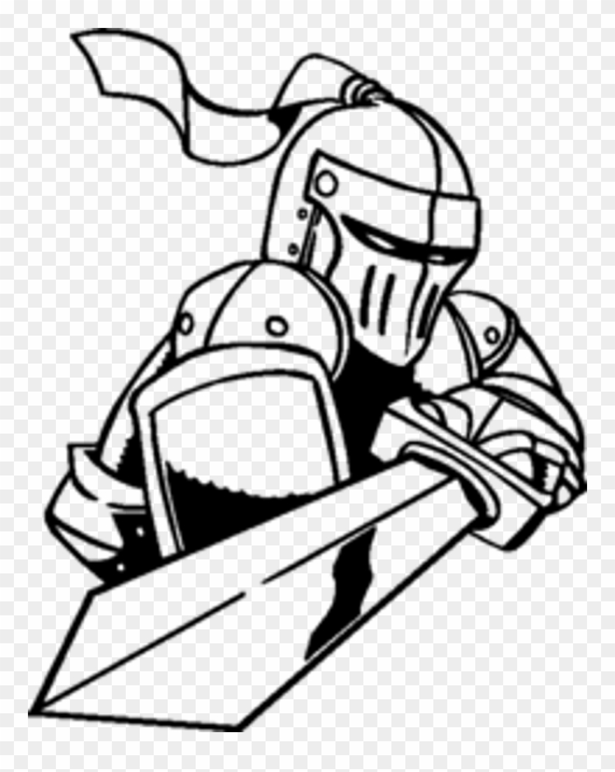 Knights clipart easy. Knight with a sword