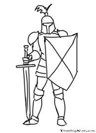 How to draw cartoon. Knights clipart easy