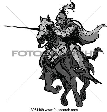 Jousting mascot on horse. Knight clipart evil knight