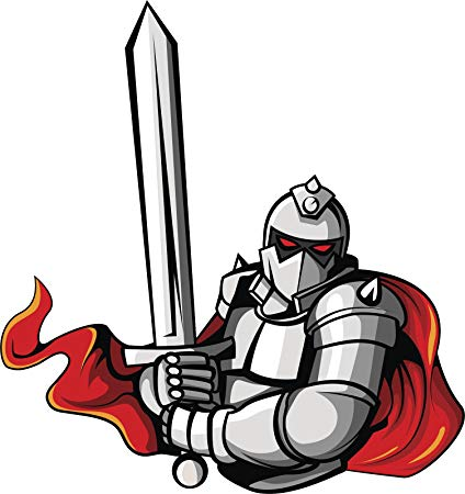 Knight clipart evil knight. Strong medieval with red