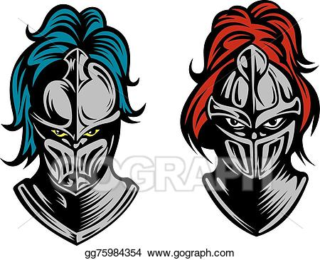 Knight clipart face knight. Vector art heads in
