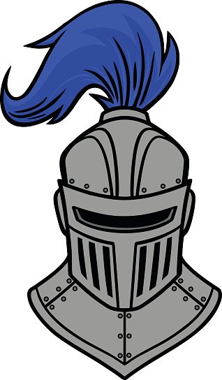 Knight clipart face knight. Front view premium clipartlogo
