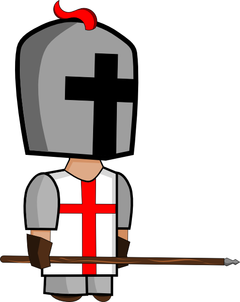 Warrior clipart crusader. Knight svg opengameart org