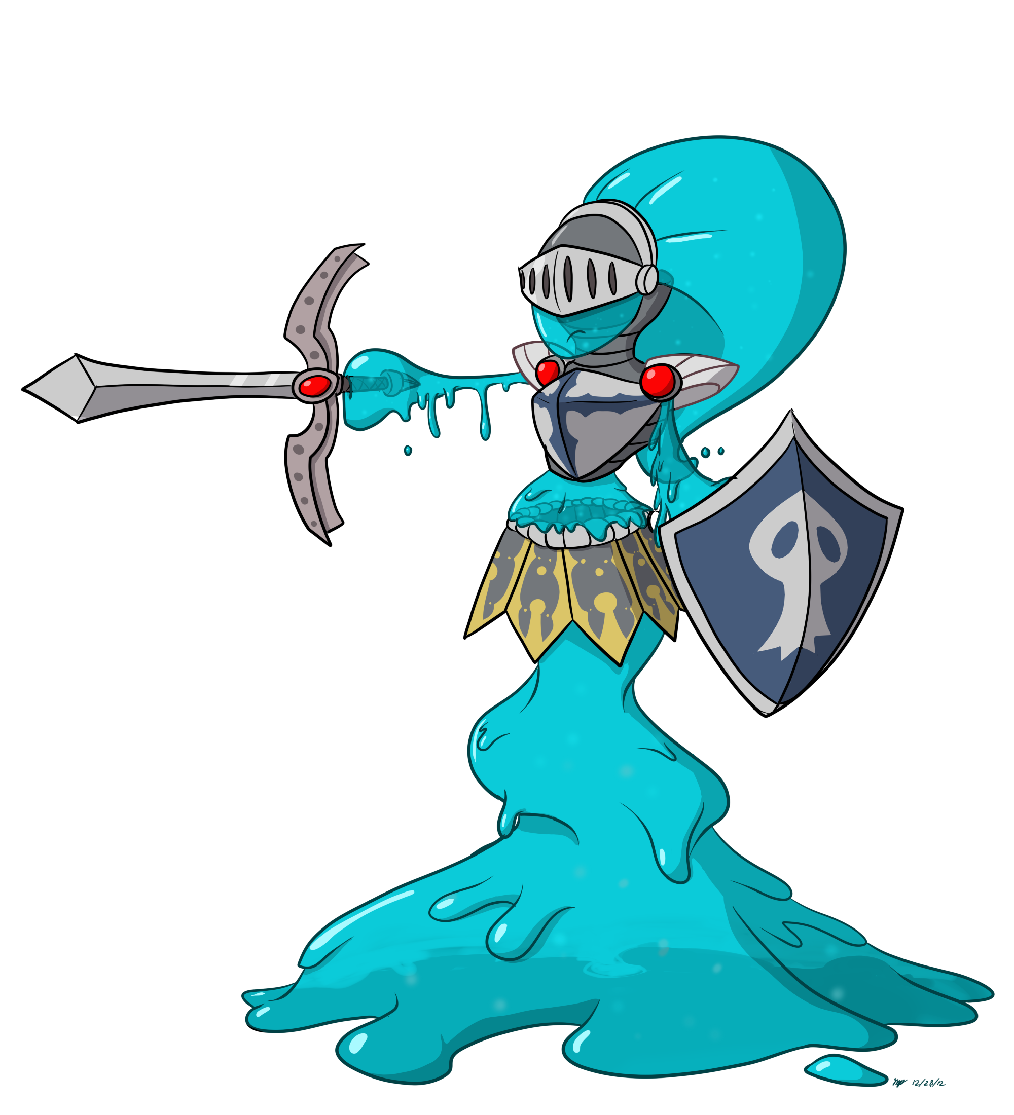 Knight clipart girl knight. Goo everybody by cogmoses