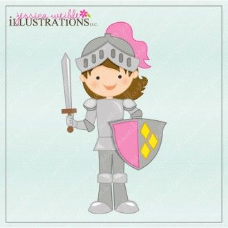 Graphic image princess party. Knight clipart girl knight