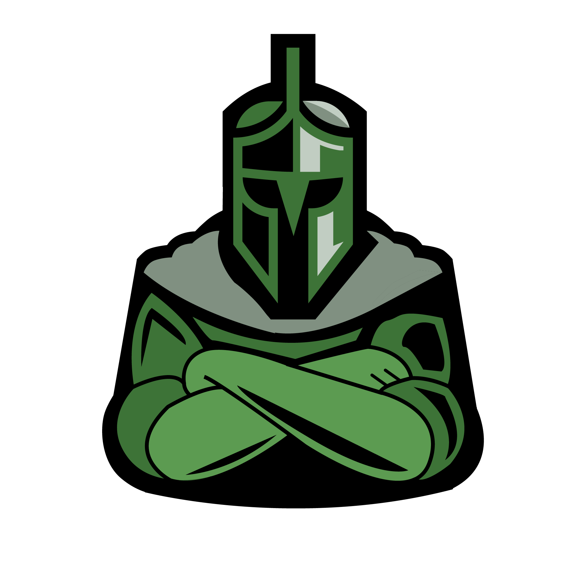 Custom metal roofing company. Knight clipart green knight