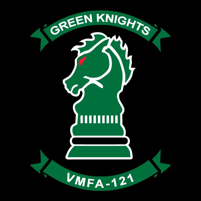 Retired vmfa knights th. Knight clipart green knight