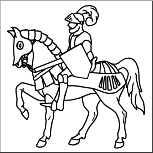 Clip art medieval mounted. Knight clipart history european