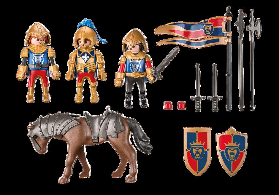 Knight clipart history european. Royal lion knights playmobil