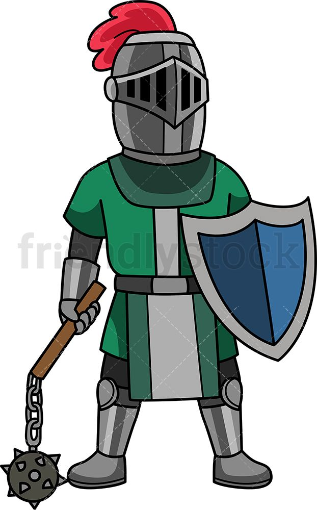 Knight clipart history european. Medieval maceman warriors soldiers