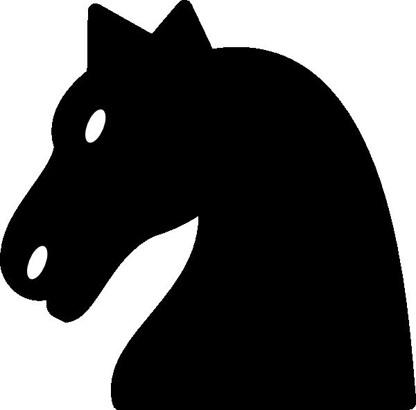Black clip art at. Knight clipart horse animation