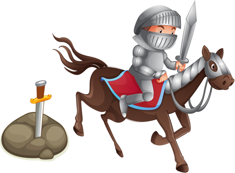 Photography illustration cartoon transprent. Knight clipart horse animation