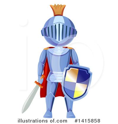 By bnp design studio. Knight clipart illustration