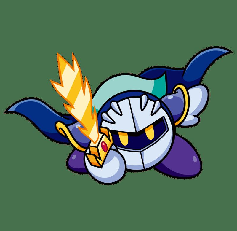 Knight clipart illustration. Kirby meta holding sword