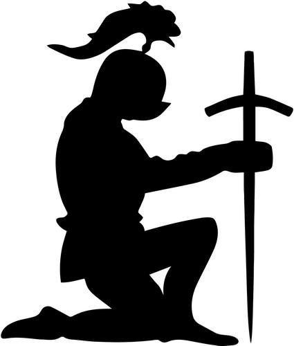 Knight Clipart Kneeling  Knight Kneeling Transparent Free