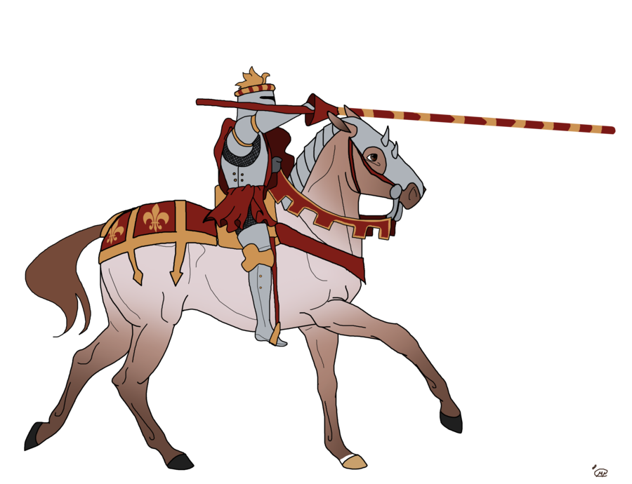 Knights clipart knight jousting. Drawing at getdrawings com