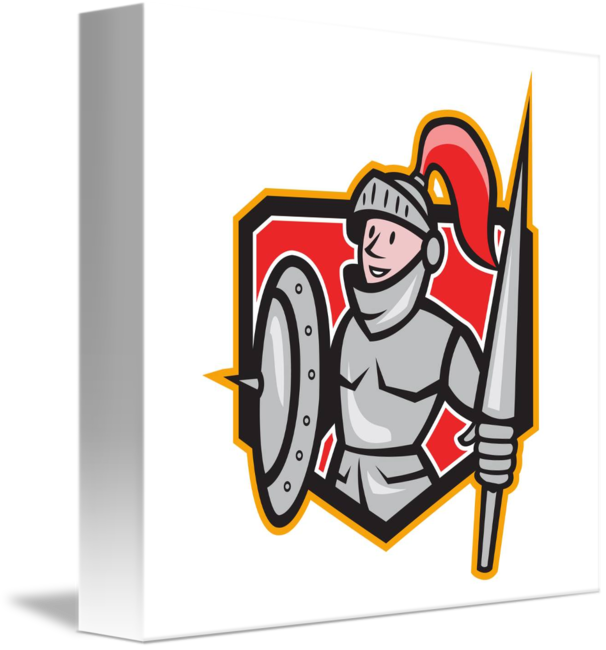 Knight clipart lance. Shield crest cartoon by