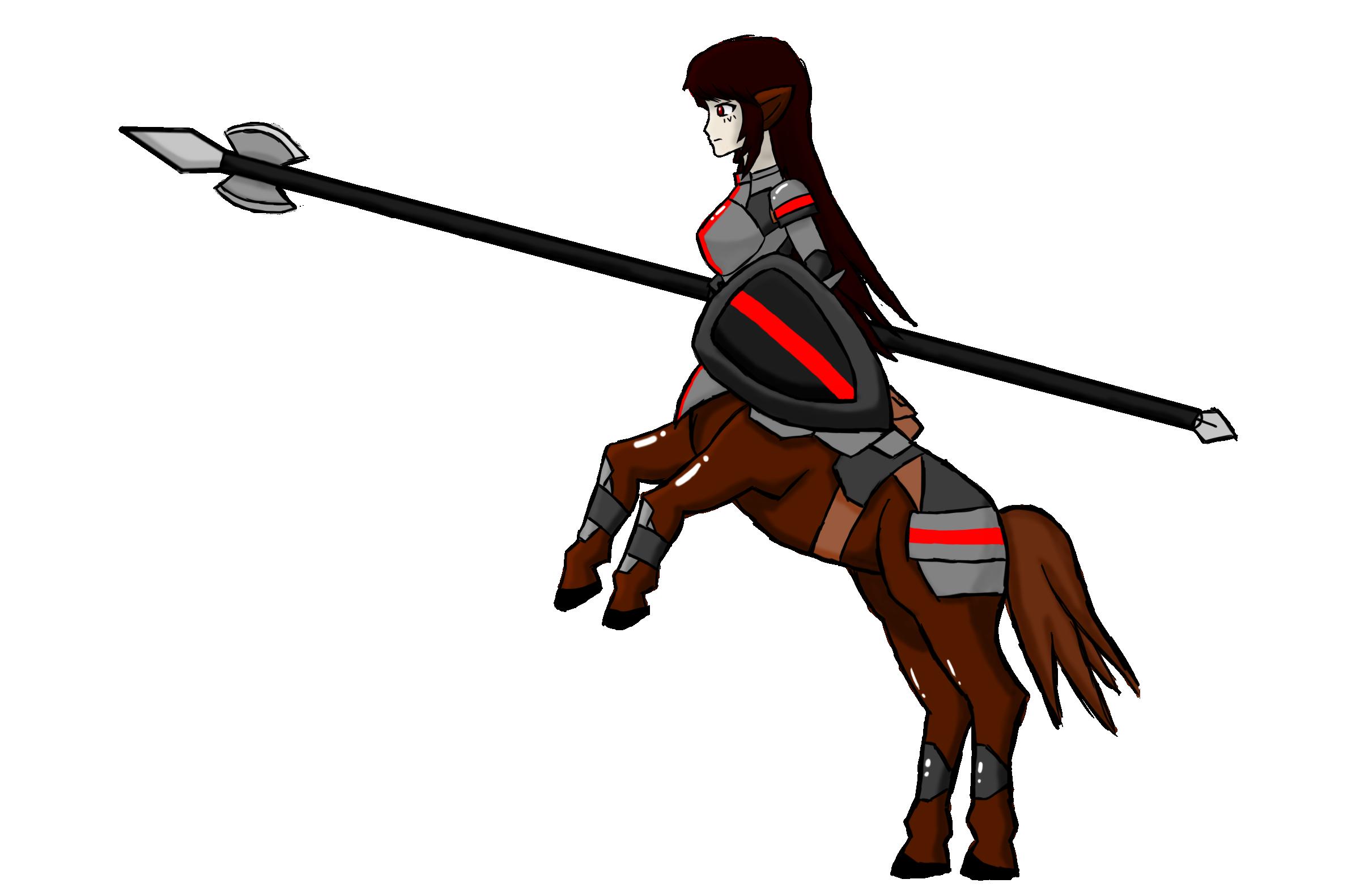 Knight clipart lance. Sagitas centaur by spartan
