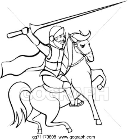 Knight clipart lance. Vector art with on