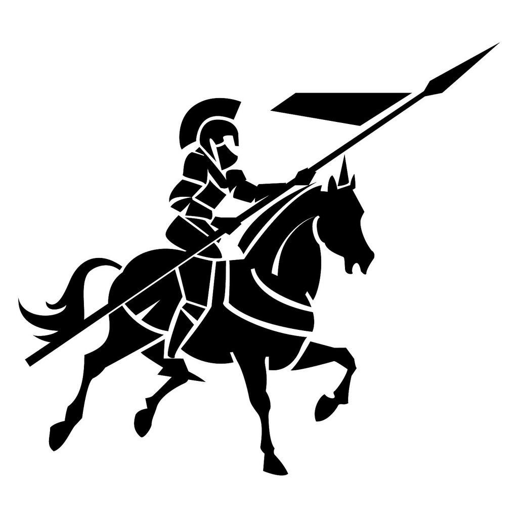 On horse free download. Knight clipart lance