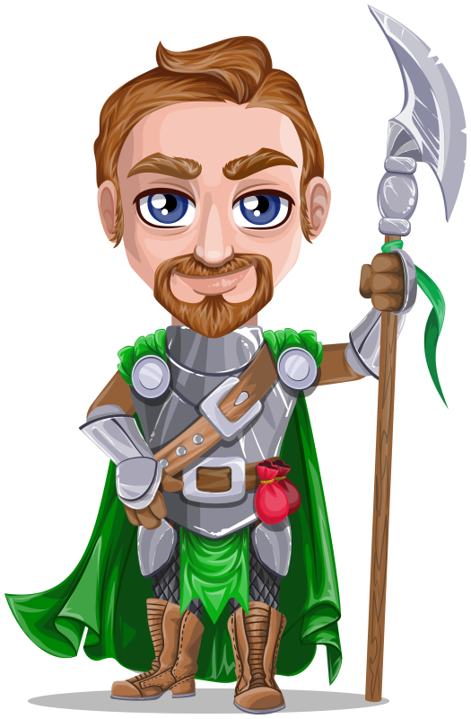 Warrior in armor holding. Knight clipart medieval person