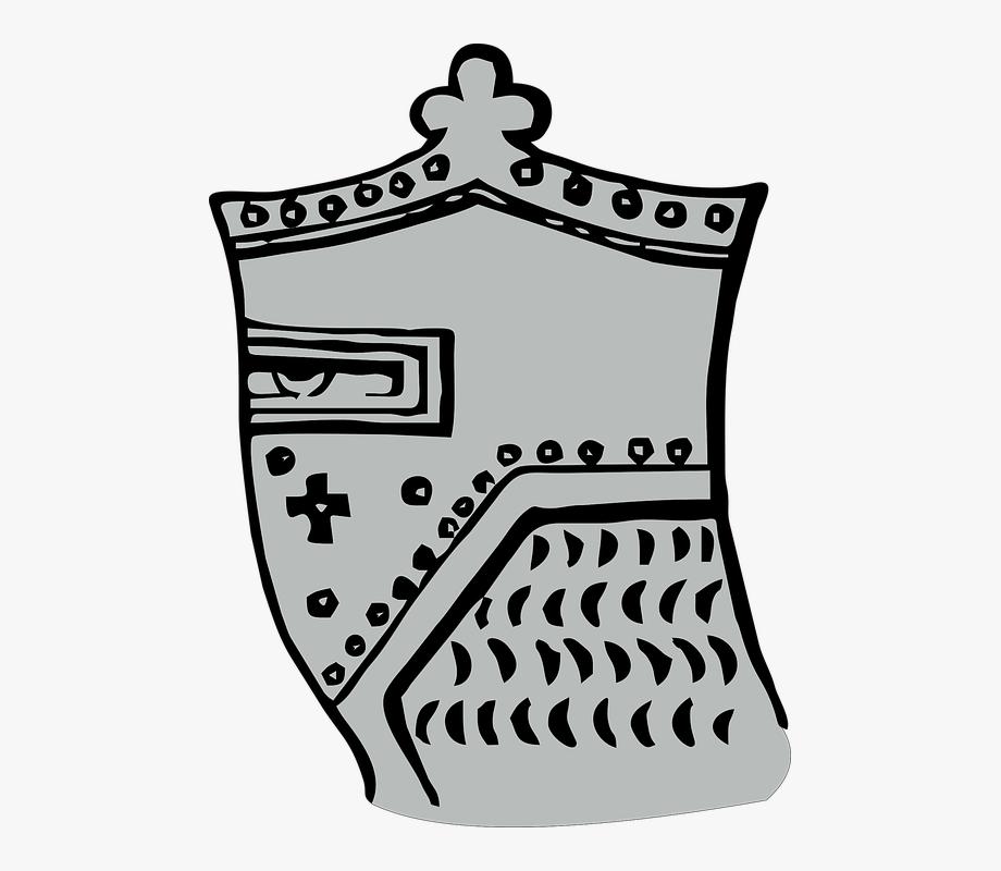 Helmet medieval warrior honor. Knight clipart military