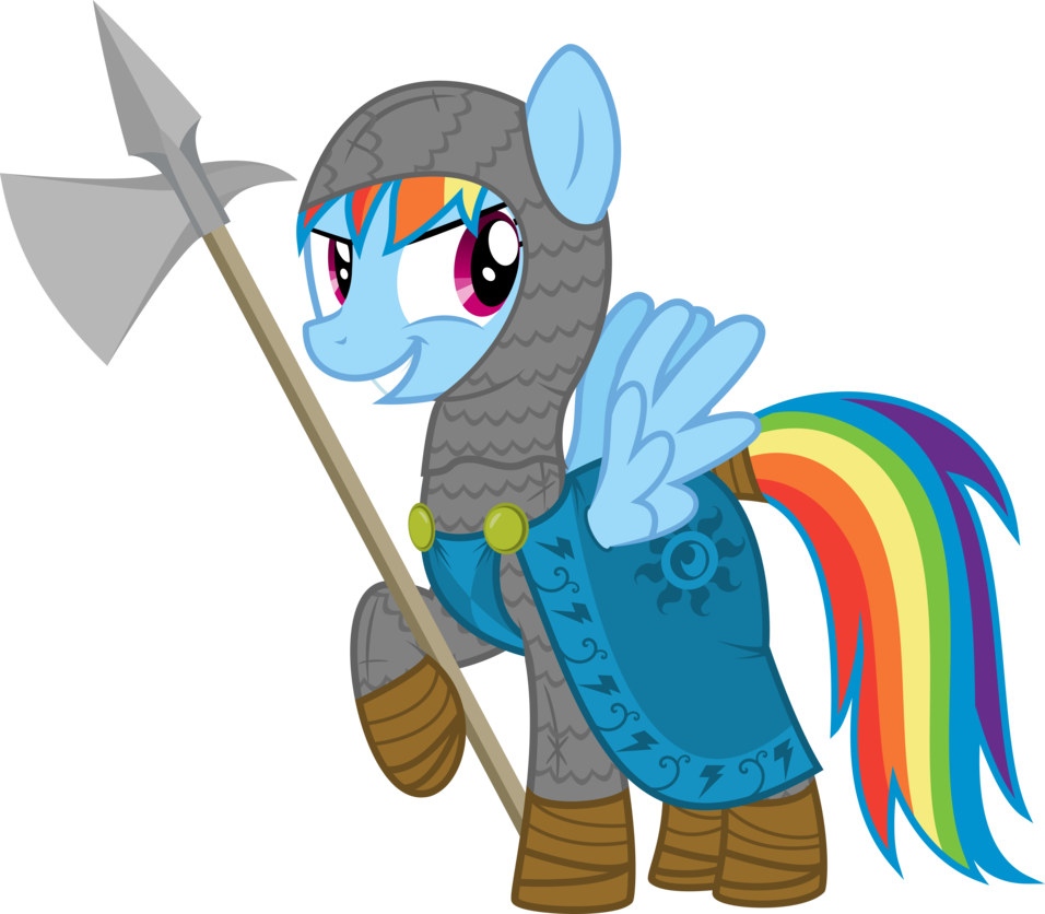 Rainbow dash by xenoneal. Knight clipart normans