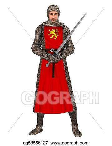 Norman stock illustration gg. Knight clipart normans