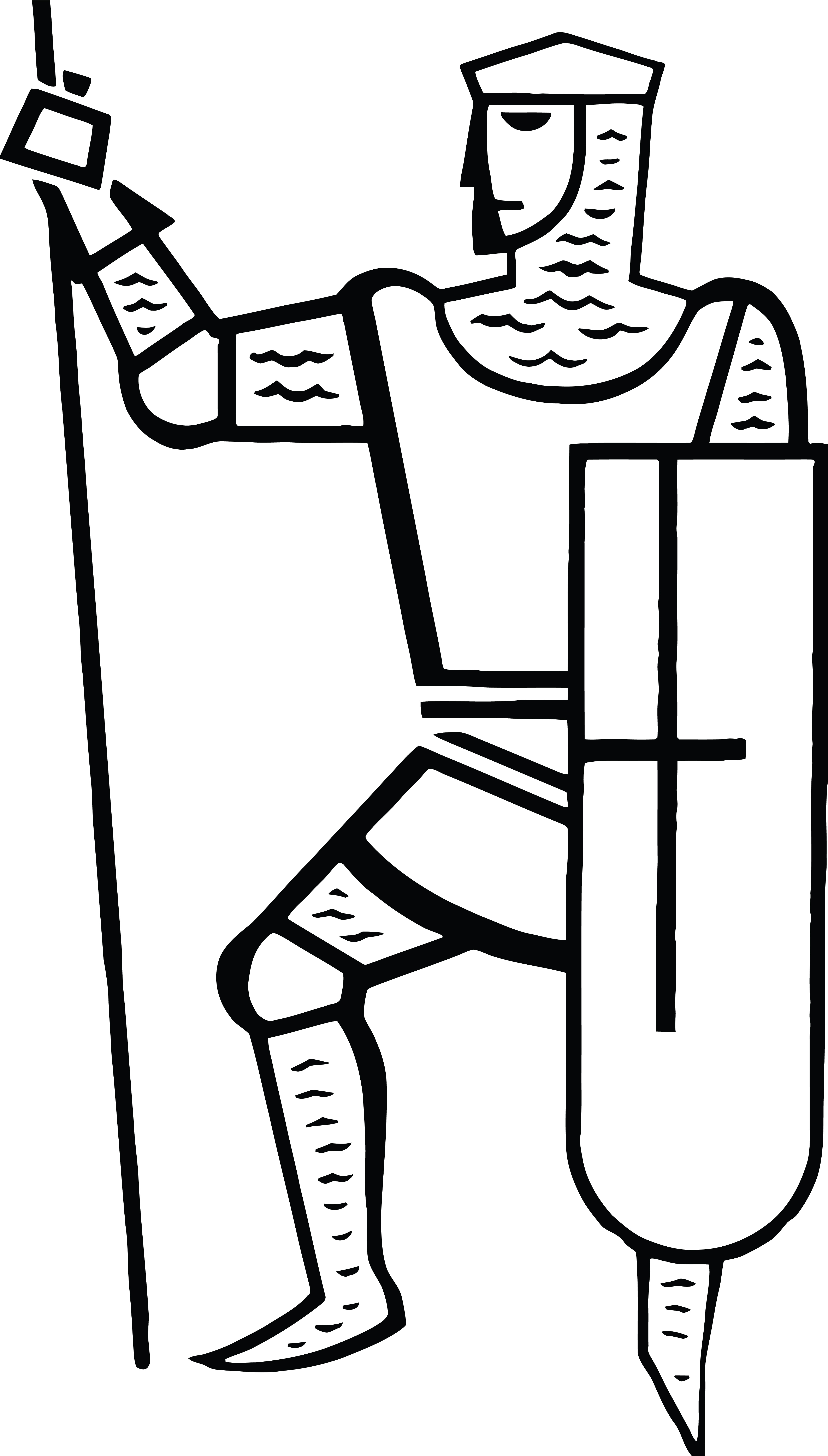 Knight clipart outline knight. Black and white free