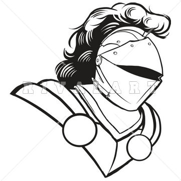 Black and white panda. Knight clipart outline knight