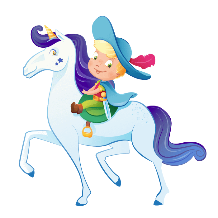 Knight clipart princess knight. Wizards and princesses wallstickers
