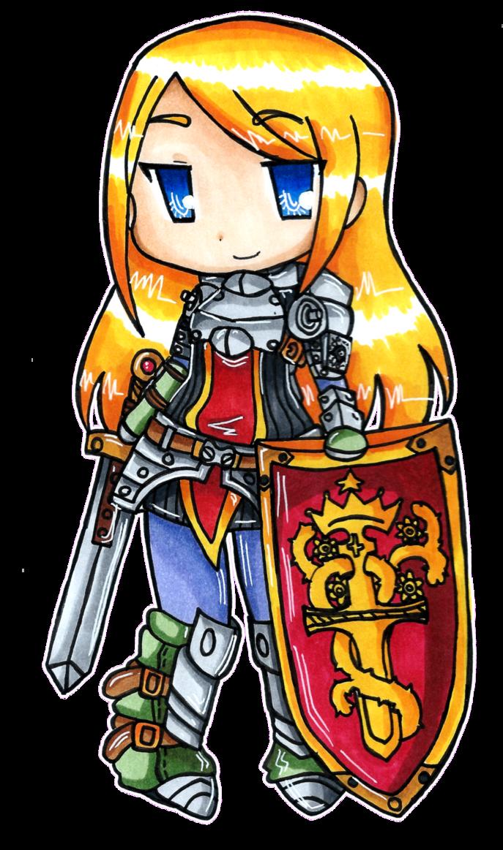 Knight clipart protector. Etrian odyssey by imimi