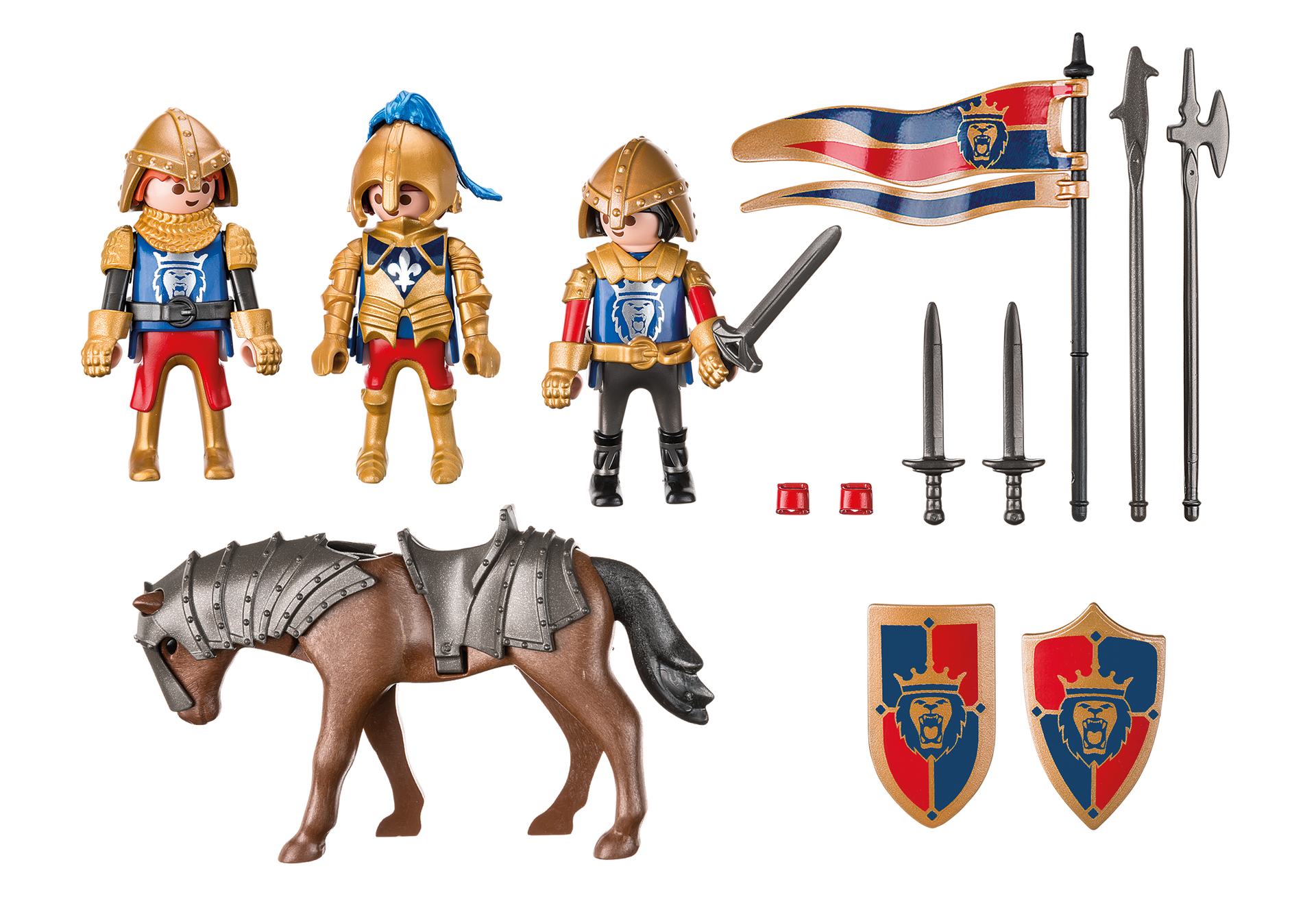 Knight clipart royal horse. Lion knights playmobil united