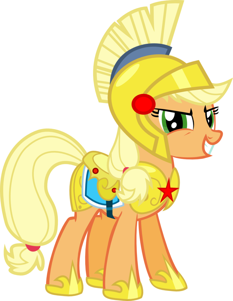 Safe clipart school guard.  applejack armor artist