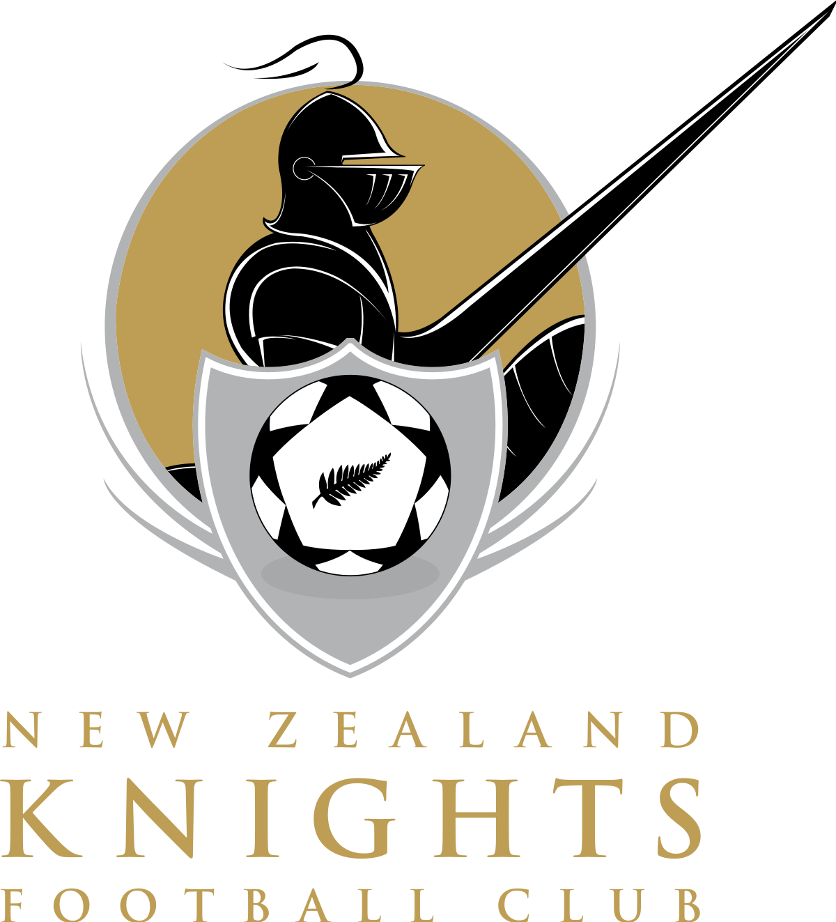 New zealand knights fc. Knight clipart side view