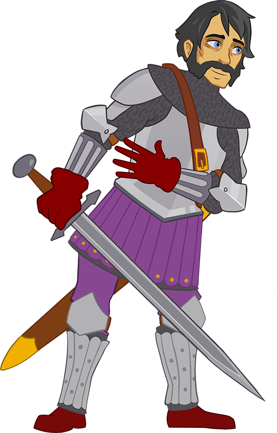 Defender s quest wiki. Knight clipart side view