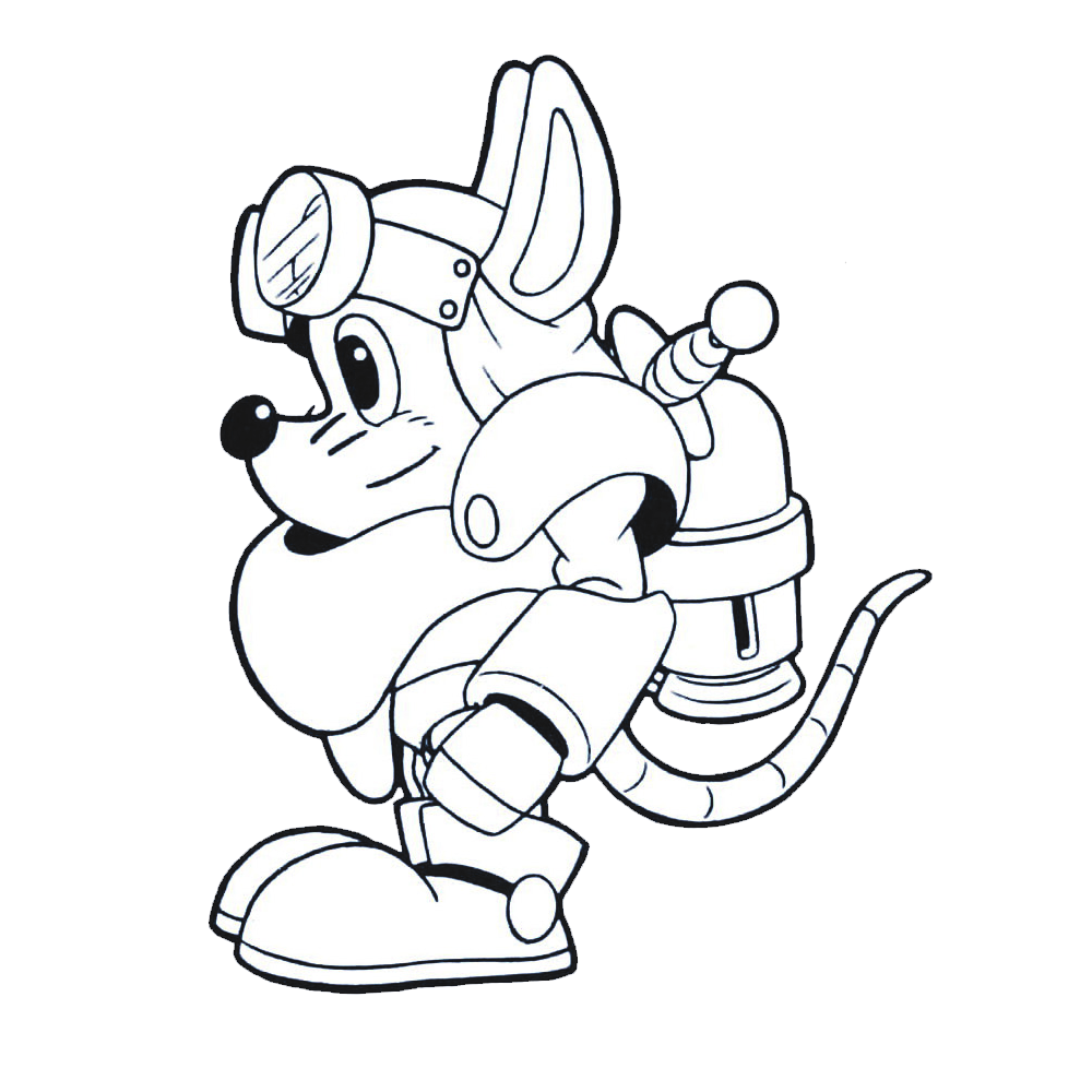 Knight clipart side view. Image sparkster rocket adventures