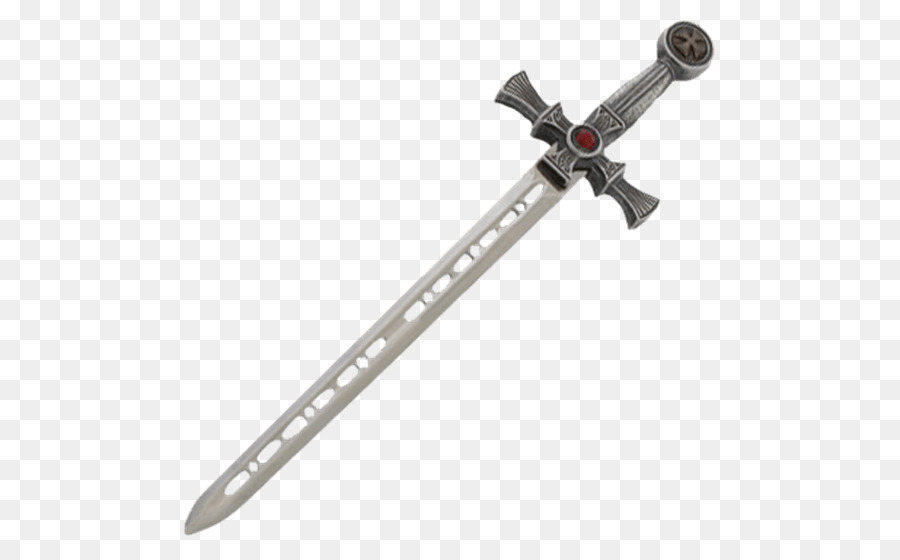 Knight clipart silver knight. Cartoon sword transparent