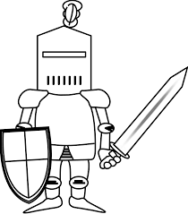 Knights clipart easy. Simple knight drawing google