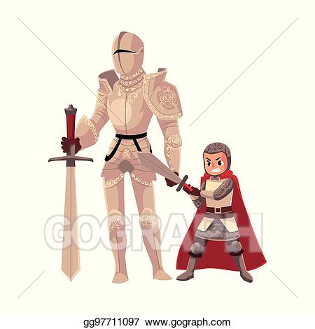 Medieval clipart squire. Eps vector knight in