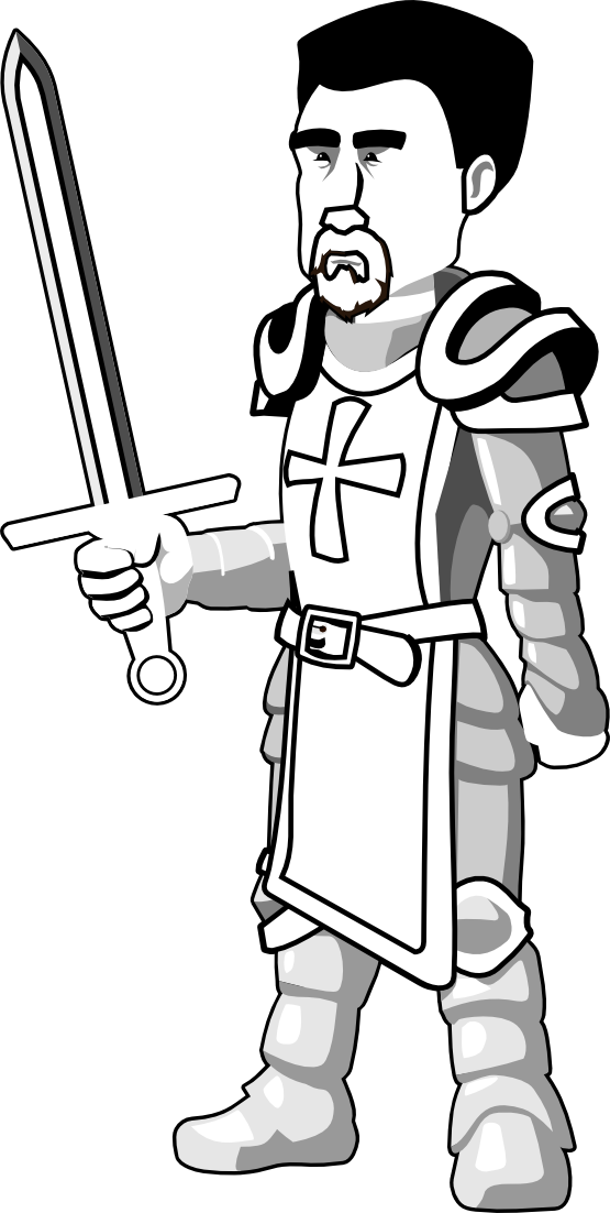 knight clipart standing