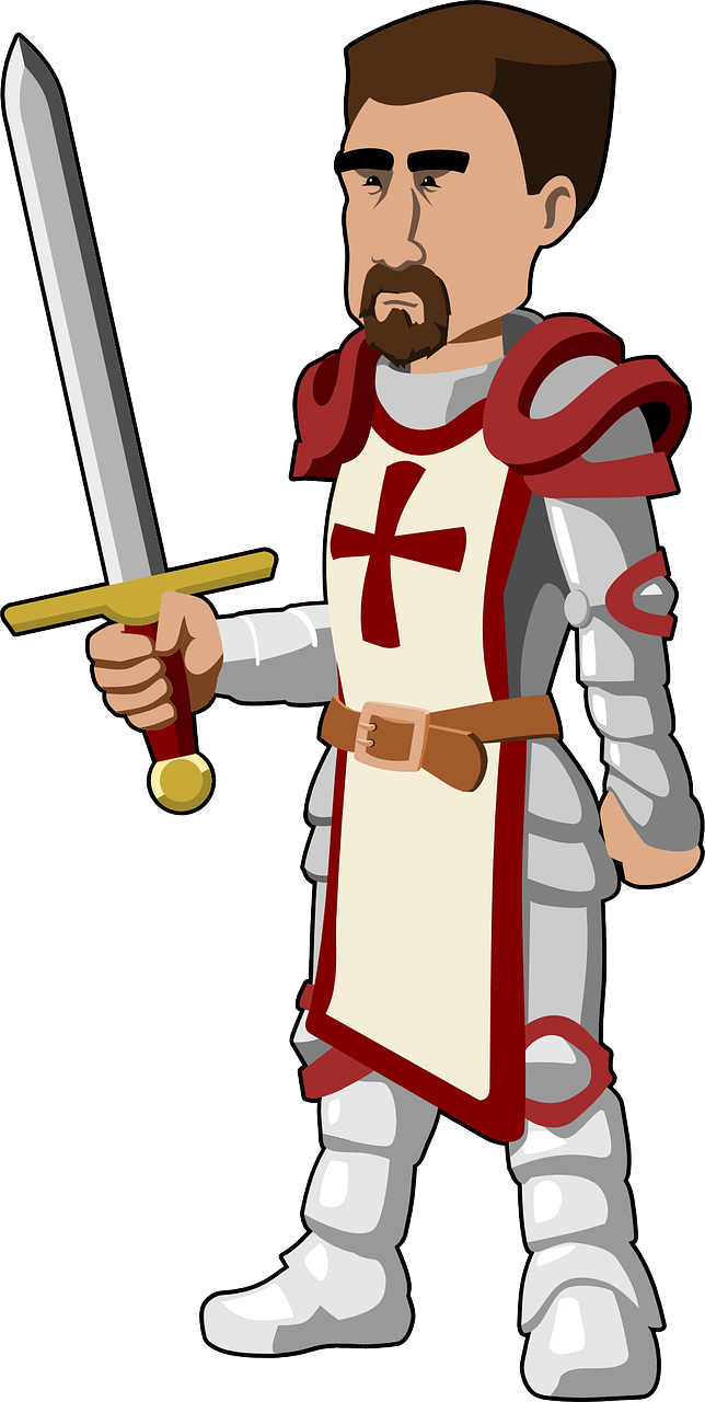 Crusader armour fighter pinterest. Knight clipart strong