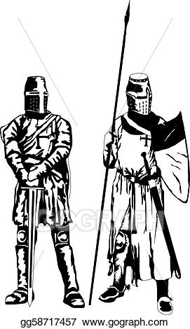 Vector stock clip art. Knights clipart two knights