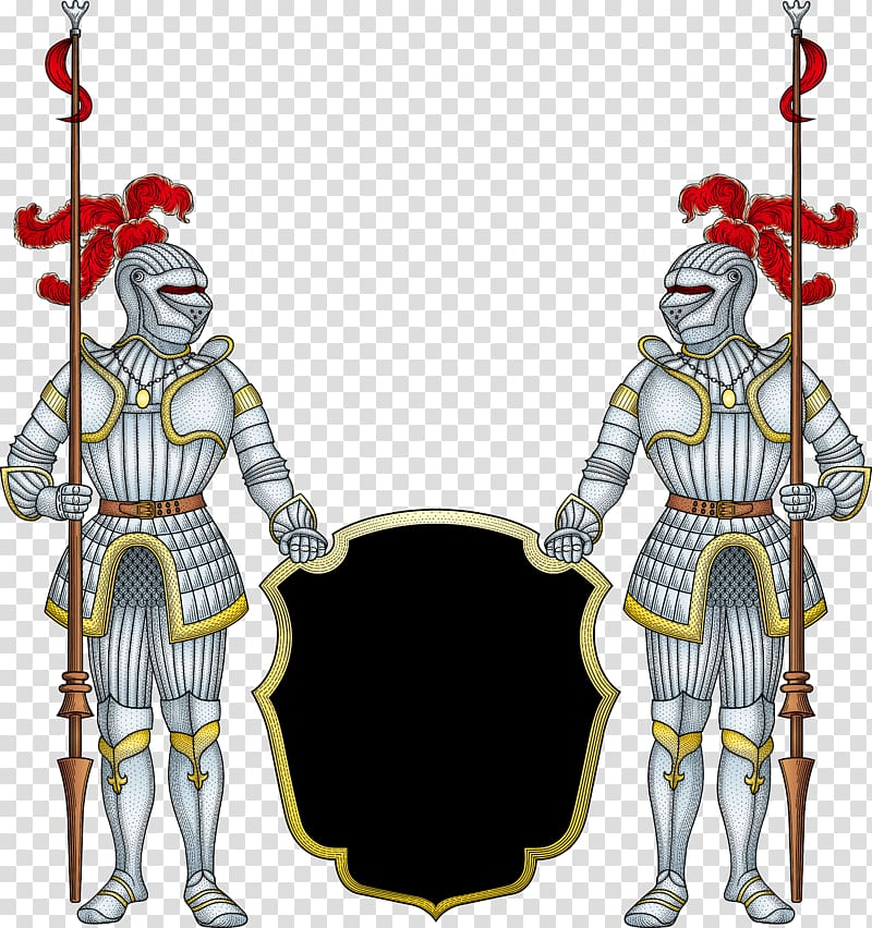Holding shields illustration japanese. Knight clipart two knights